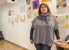 Carmen Laorden, en la sede de la oenegé In Via.