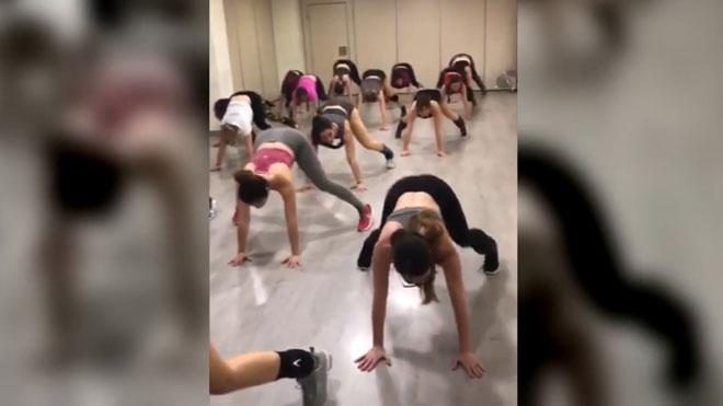 Clase de booty dance de Kim Jordan.