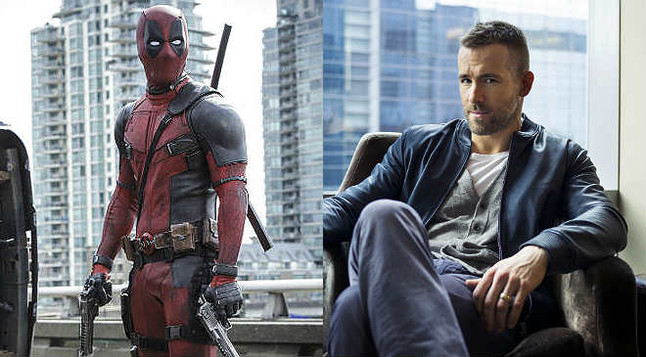 El actor canadiense Ryan Reynolds y su personaje en la pelicula Deadpool