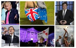 Imágenes que ilustran algunos de los retos que encara el 2017.