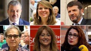 Jaume Collboni, Janet Sanz, Albert Batlle, Joan Subirats, Laia Bonet y Laura Pérez.