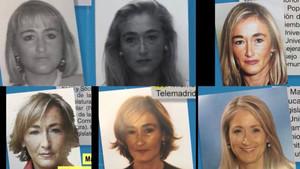 Imágenes de Cristina Cifuentes de 1994, 1998, 2002, 2003, 2006 y 2010.