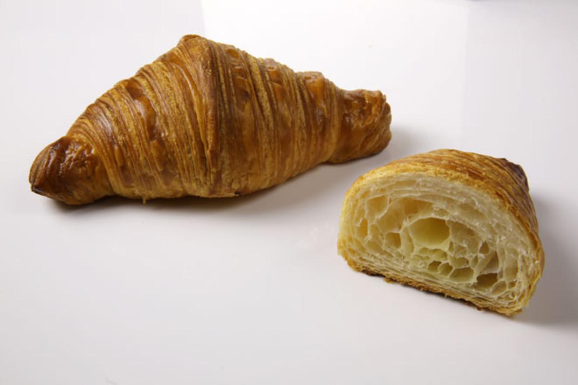 El cruasán de Pastisseria Canal se elabora con mantequilla y harina francesas 'top'.