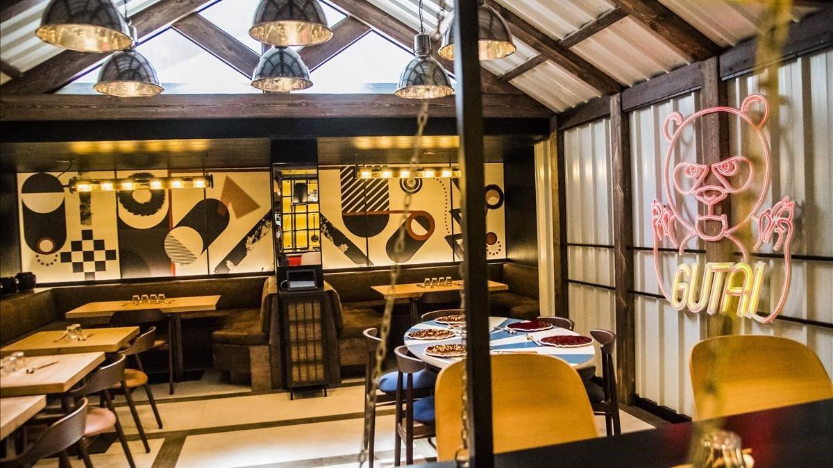 La decoración de gutai es de lo más informal y tiene cierto aire japonés.