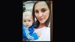 Karolina Zelaznowska y su bebé, en la foto difundida por la Guardia Civil.