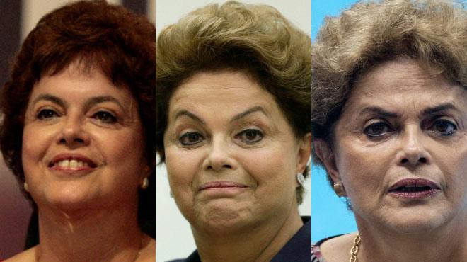 El deterioro físico de Dilma Rousseff.