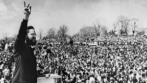 Concentración en Philadelphia (EEUU) el 22 de abril de 1970, primer Día de la Tierra.