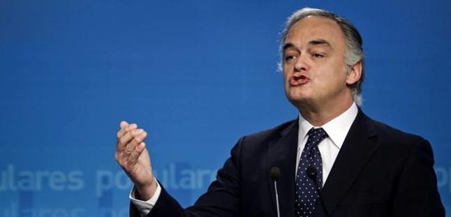 El dirigente del PP Esteban González Pons, en la sede del PP, en una foto de archivo.