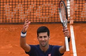 Djokovic, tras ganar el partido en Montecarlo.