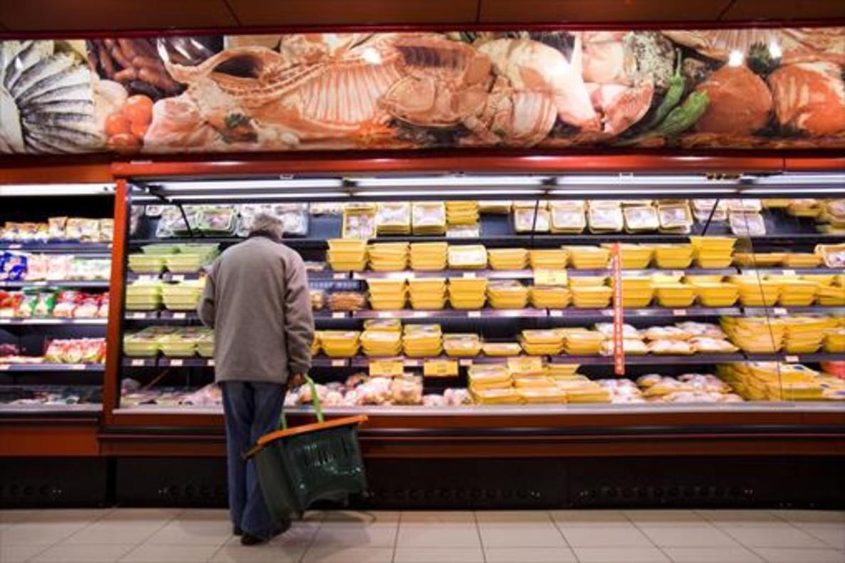 Un cliente en un supermercado.