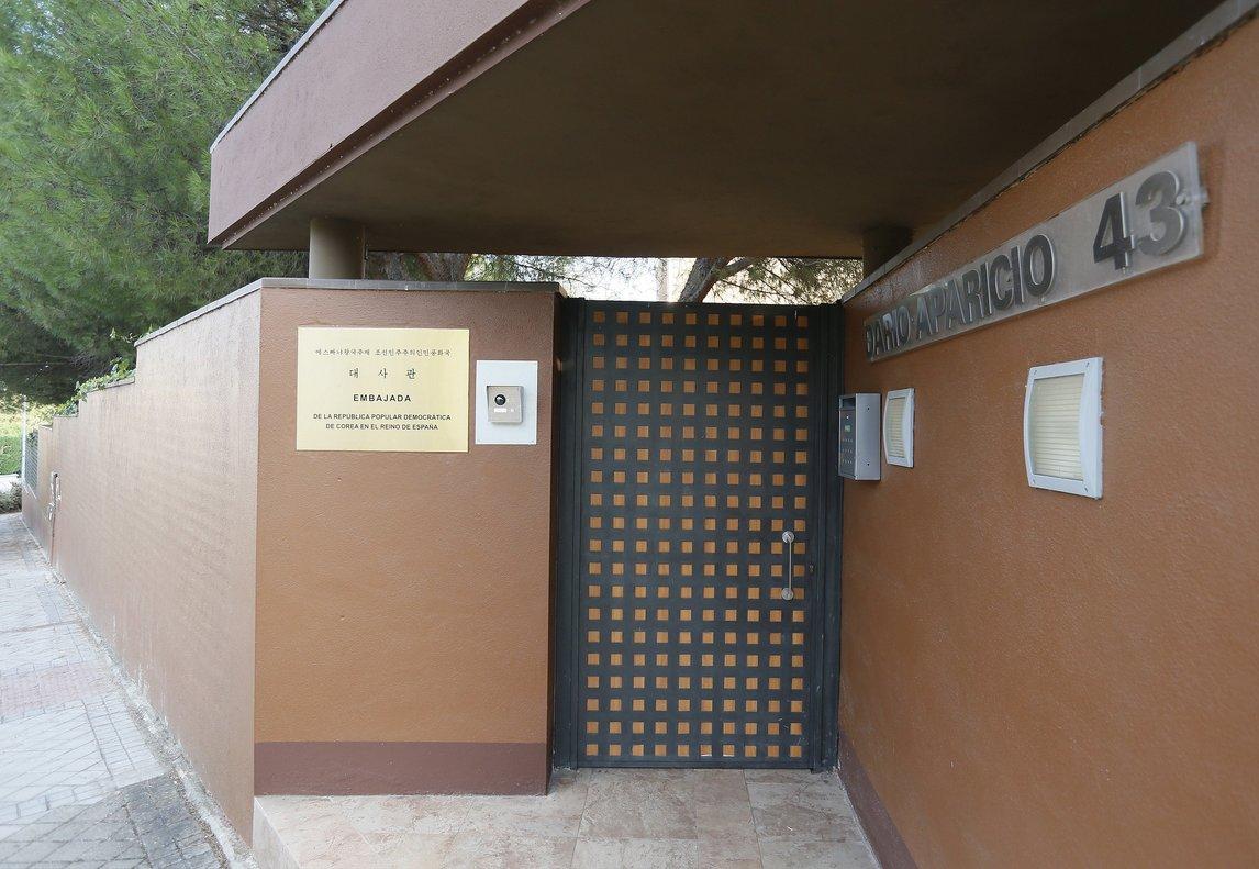 Embajada de Corea del Norte en Madrid.