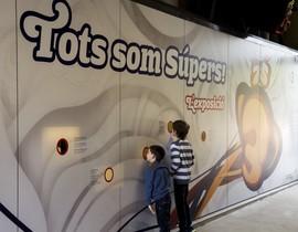 La entrada a la exposición sobre los 25 años del Club Super 3.