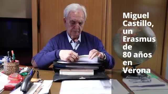 Miguel Castillo, un Erasmus de 80 anys a Verona.