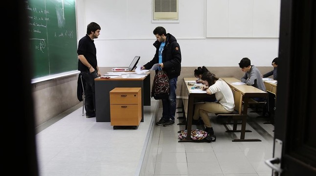 Estudiantes en la Universitat de Barcelona.