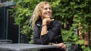 La escritora francesa, en el Instituto Francés de Barcelona, este martes.