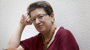 La escritora Laura Freixas, el martes, en la librería La Central de Madrid.