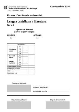 El examen de castellano de la selectividad 2018 en Catalunya