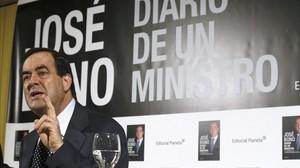 El exministro José Bono, en la presentación de la segunda parte de sus memorias.