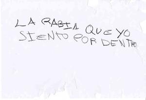 Dibujos y mensajes escritos por las víctimas de abusos.
