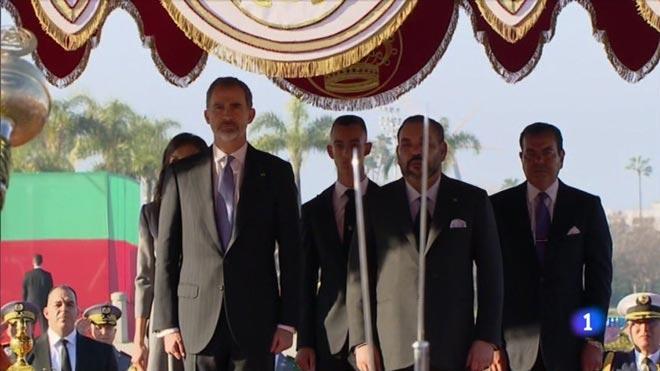 Felipe VI y Mohamed VI en Rabat (TVE-1).