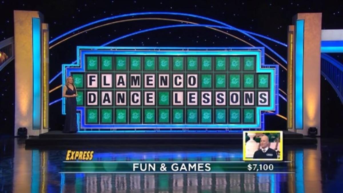 Panel resulto del programa Wheel of fortune
