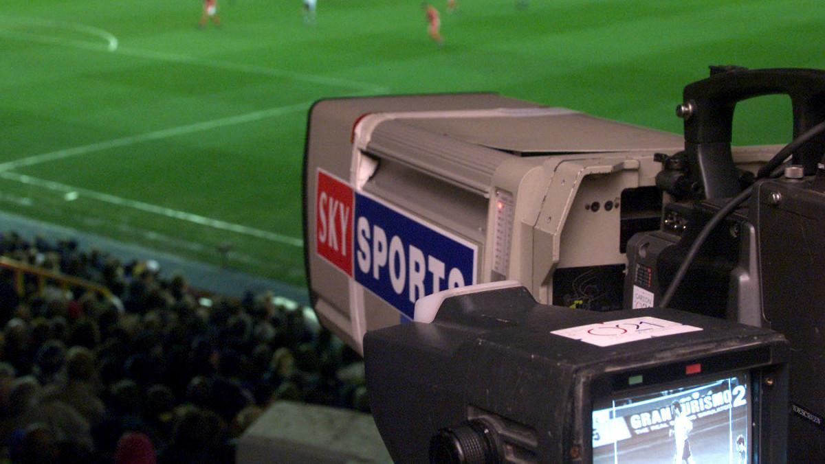 Retransmisión de un partido de la Liga italiana a través de la plataforma Sky.