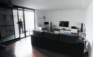 Interior de uno de los pisos del 113 de la avenida de Barcelona, en Sant Joan Despí (Baix Llobregat).