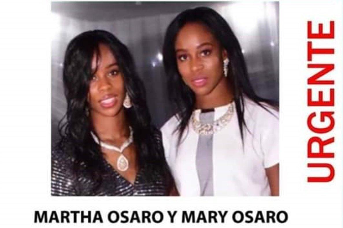 Marta y Mary Osaro, las gemelas desaparecidas en Madrid el pasado 9 de mayo.