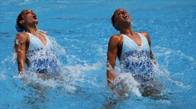 Gemma Mengual junto a Ona Carbonell, durante el ejercicio realizado en Río