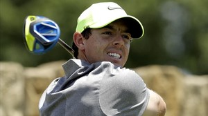 El golfistaRory McIlroy durante la segunda ronda del US Open en el Oakmont Country Club (EEUU)