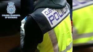 Captura del vídeo difundido sobre la operación policial.