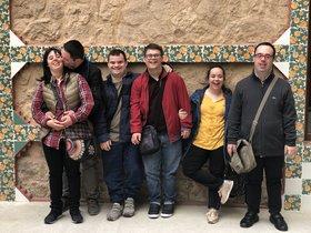 Un grupo de personas con Síndrme de Down en Casa Vicens.