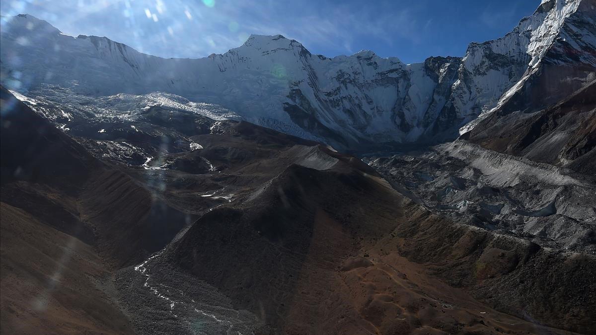 Imagen aérea en la región nepalí del Everest.
