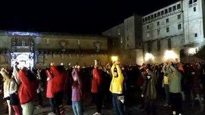 Imagen de la Praza do Obradoiro de Santiago de Compostela, este martes.