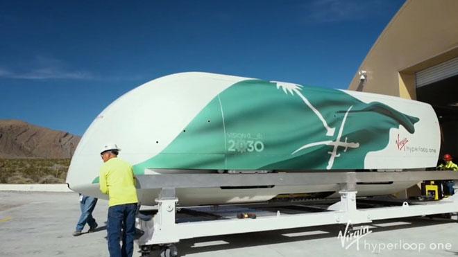 Imágenes del tren 'Hyperloop' de Virgin.