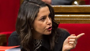 Inés Arrimadas, en el Parlament