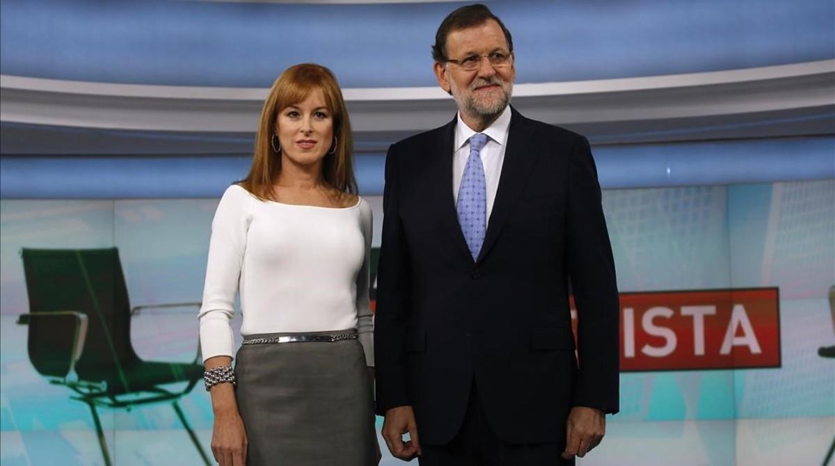 Gloria Lomana con el Presidente del Gobierno, Mariano Rajoy