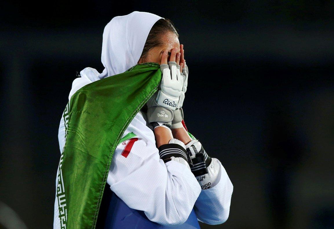 Kimia Alizadeh, al ganar la medalla en Rio de Janeiro