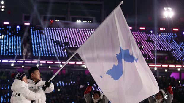 Las dos coreas desfilan bajo una misma bandera en la inauguración de los JJOO.