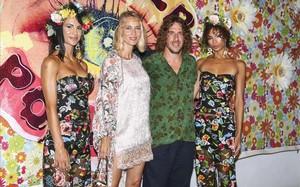 Vanesa Lorenzo y Carles Puyol, en la Flower Party de Pachá.