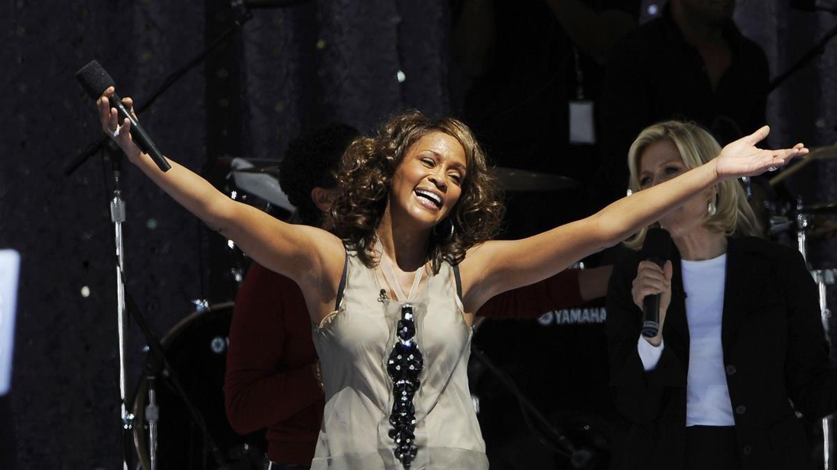 Whitney Houston, en el 2009.