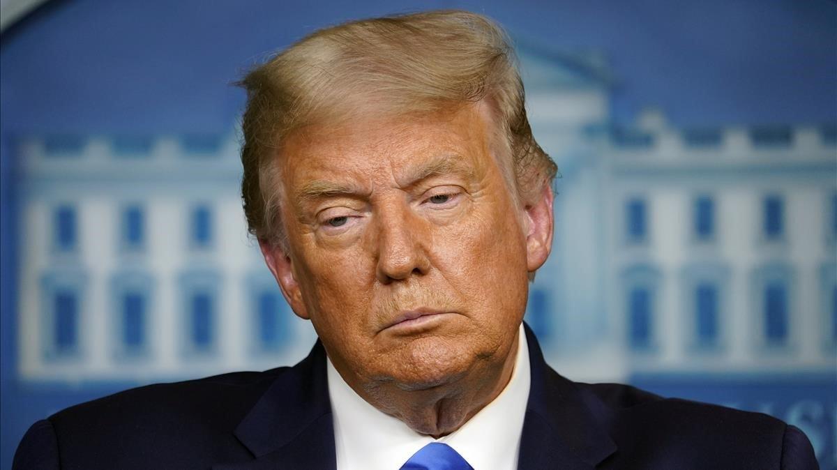 Donald Trump, durante la conferencia de prensa en la Casa Blanca.