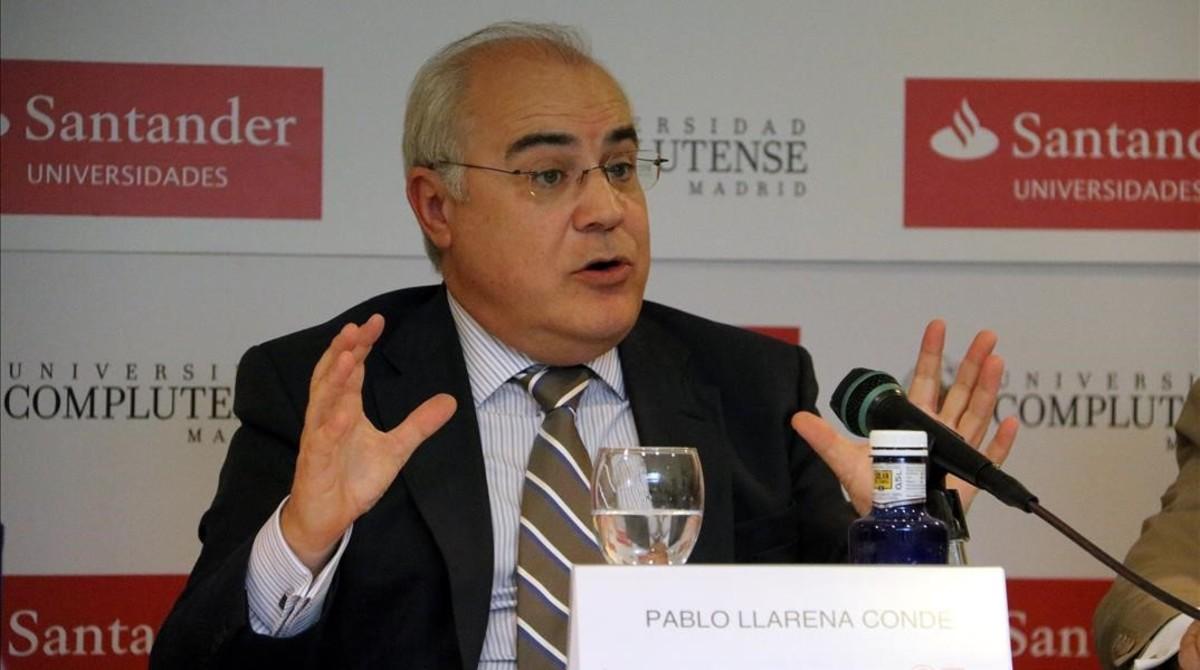 El magistrado Pablo Llarena en los cursos de verano de la Complutense enEl Escorial.