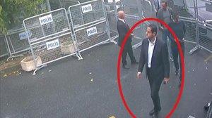 Maher Abdulaziz Mutreb, captado por la cámara junto a la residencia del cónsul saudí en Estambul.
