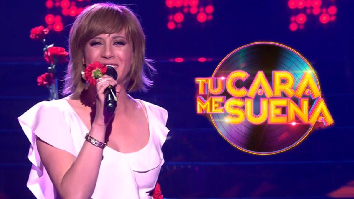 María Villalón imitando a Pasión Vega en 'Tu cara me suena'.