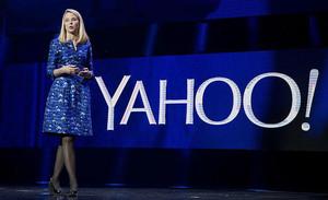 Marissa Mayer, consejera delegada de Yahoo, en un acto en la feria de electrónica de Las Vegas en el 2014.
