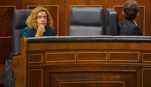 La ministra de Política Territorial, Meritxell Batet, en el Congreso.