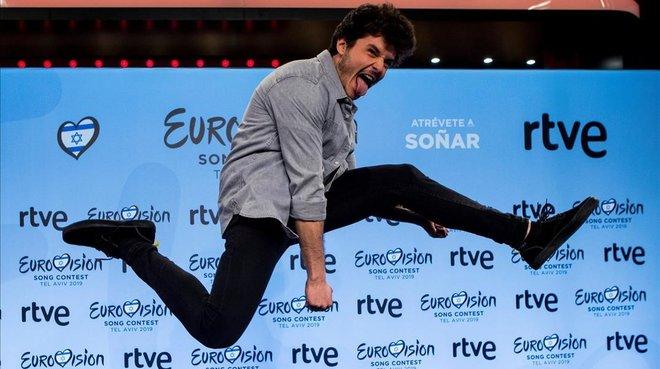 El cantante Miki Núñez, representante de RTVE en Eurovisión 2019.