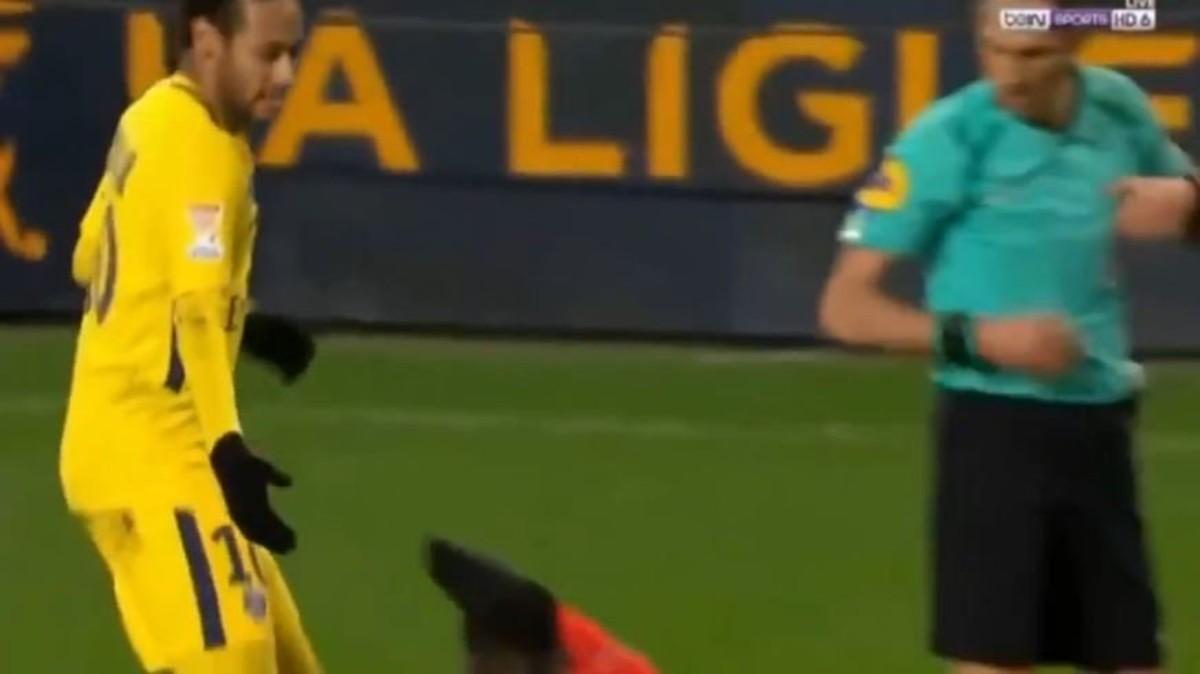 El gesto de Neymar.