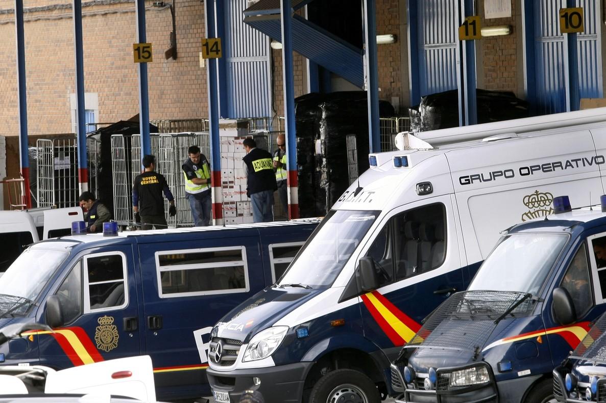 Imagen de archivo de la operación contra las mafias chinas por delitos de blanqueo de capitales en 2012 en Madrid.